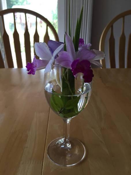 Wine glass flower 3