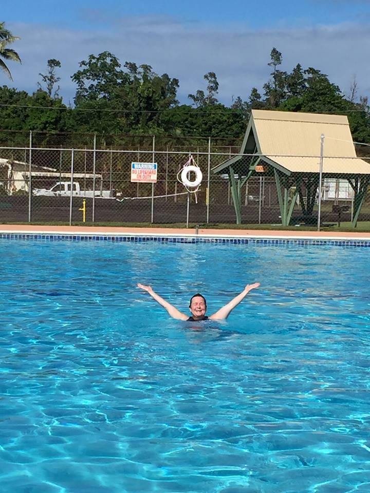 me in pool